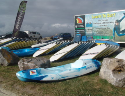 Kayaks for hirePaddle Boards for hire at Porthcawl Surf
