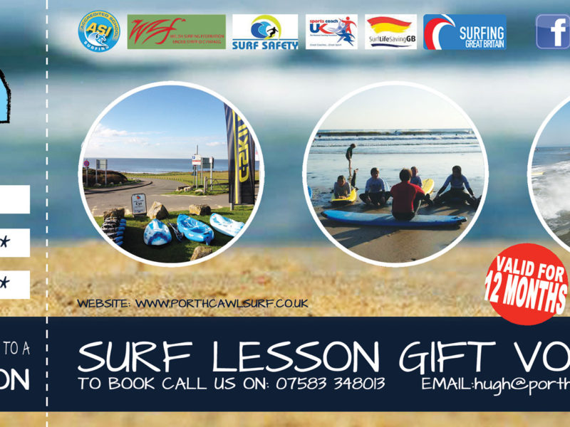 Surf Lessons Gift Vouchers